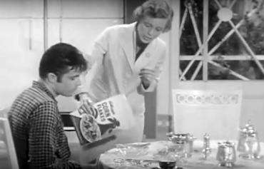 Miss Hathaway serves Jethro cornflakes