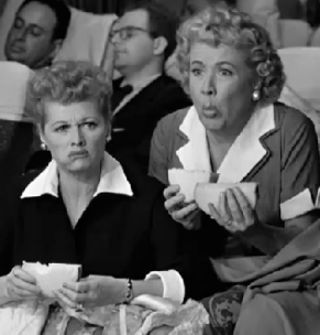 Lucy and Ethel eat cheese