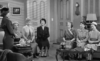 I Love Lucy women's club meeting