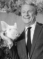 Arnold Ziffel and Eddie Albert