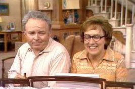 Archie & Edith Bunker at piano