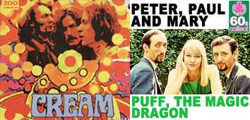 album covers of cream and puff the magic dragon