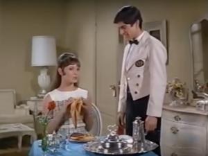 Arnold brings Gidget room service