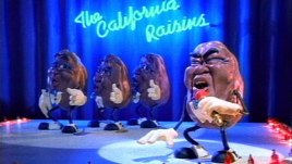 claymation California Raisins