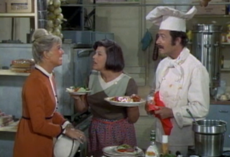 Doris Day, Kaye Ballard, Bernie Kopell on The Doris Day Show