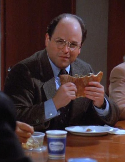 George Constanza eats a calzone