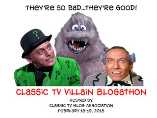 Classic TV Villain Blogathon graphic