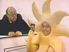 Henry Kaplan as the Sun in Sun Giant Raisins commercial