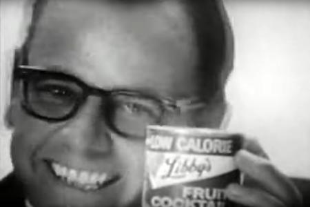 McLean Stevenson with Libby's Fruit Cocktail