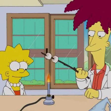 Lisa and Sideshow Bob toast marshmallow