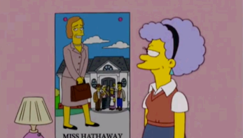 patty and miss hathaway poster