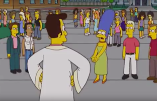 Marge defends same sex marriage to Rev Lovejoy