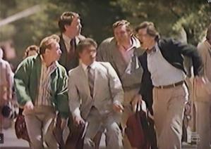 group of men in McDLT commercial
